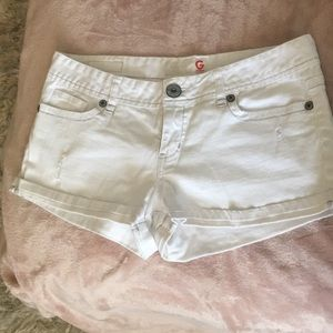 G by guess white Jean Shorts size 30